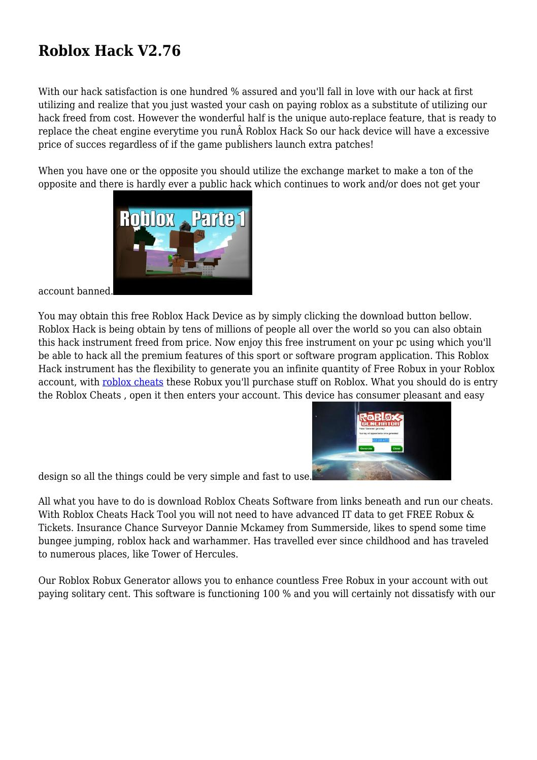 Roblox Hack V2 76 By Whitneybjjihnoovj Issuu - roblox design it cheats