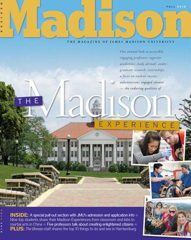 Madison Magazine Fall 2010 By James Madison University Issuu