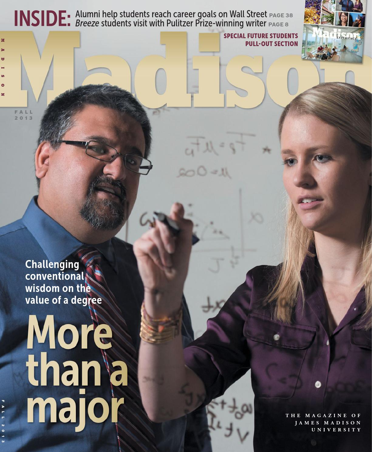 Madison magazine fall 2013 by james madison university issuu fandeluxe Gallery