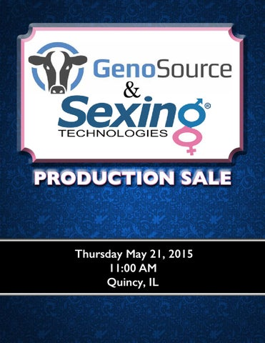 Genosource sexing technologies production sale by the cattle page 1 fandeluxe Image collections