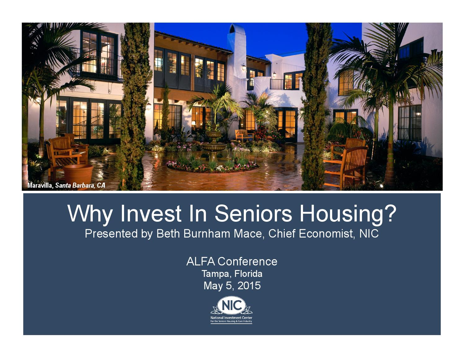 Why Do Investors Like Seniors Housing By Argentum Issuu
