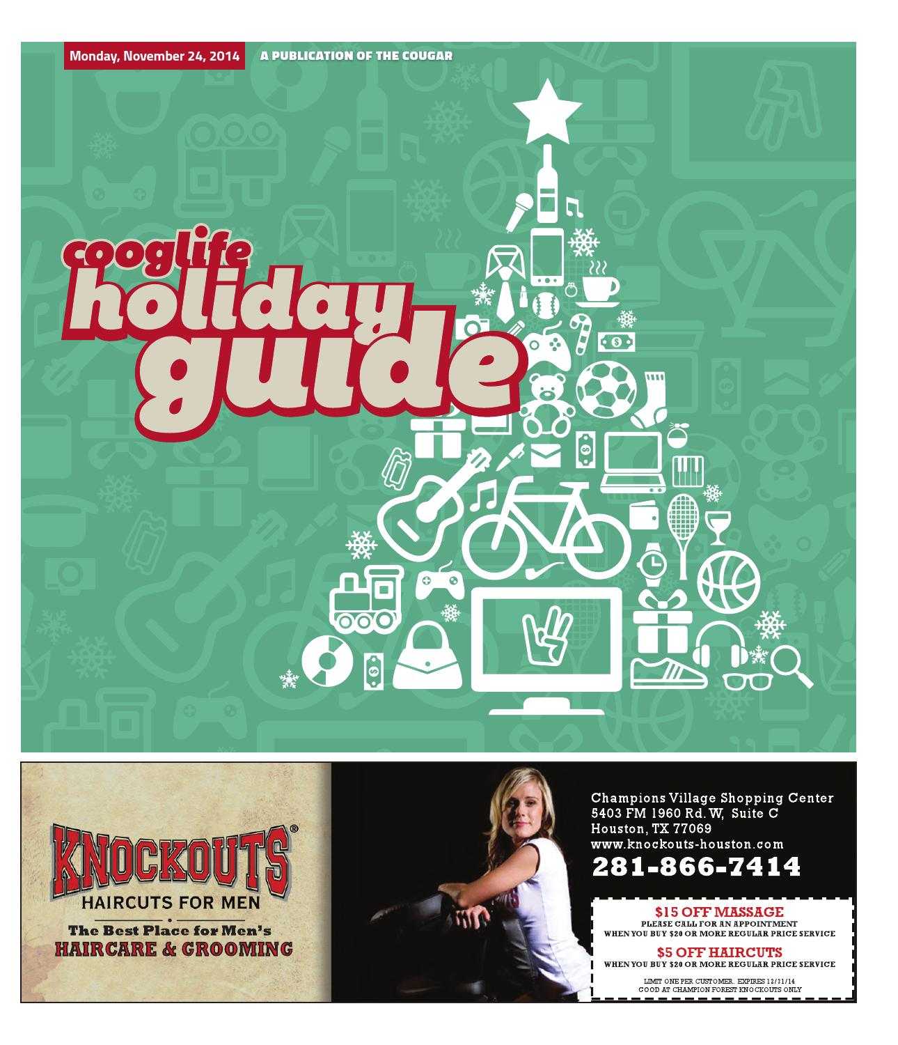 Cooglife Holiday Guide 2014 By The Daily Cougar Issuu
