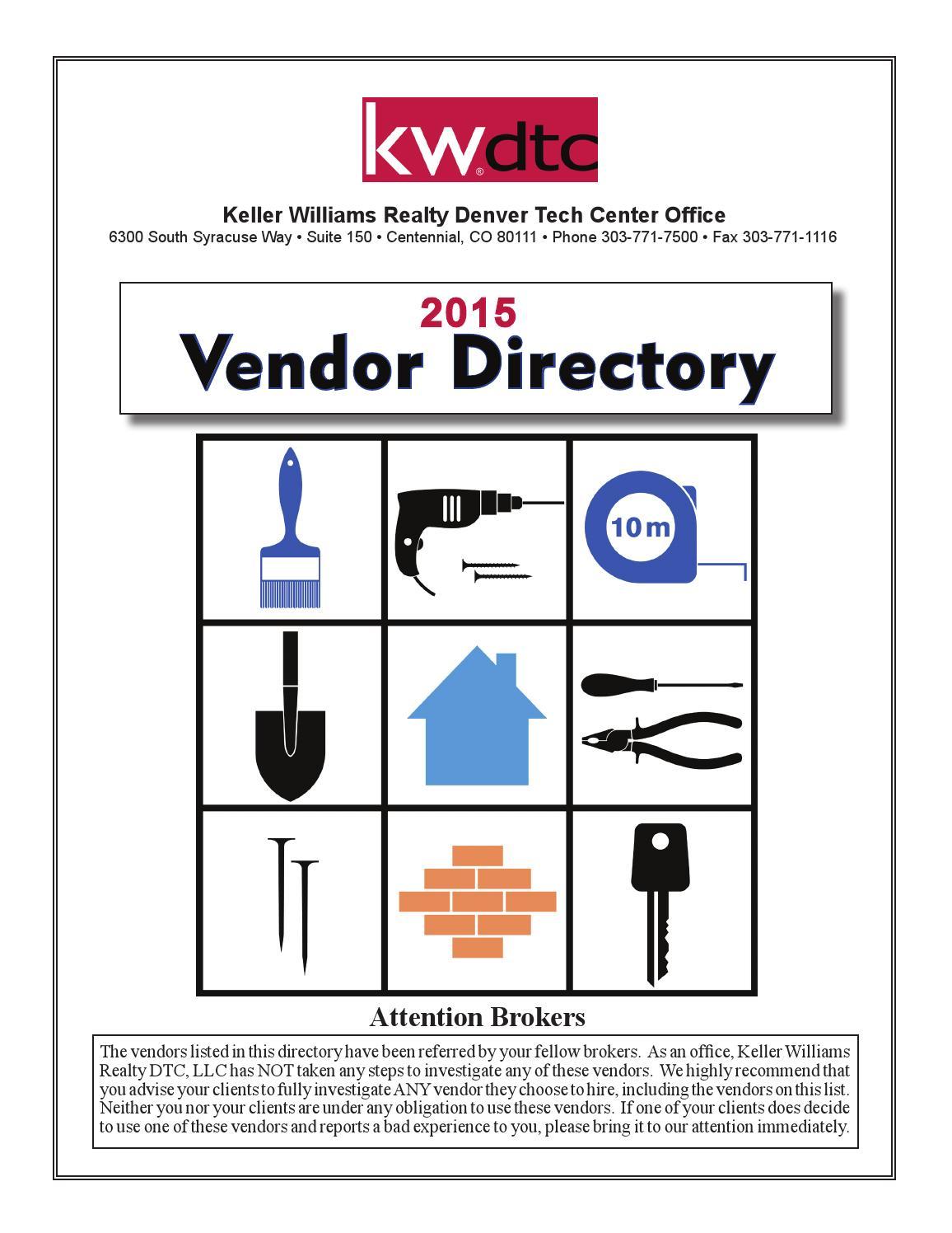 Kw Dtc 2015 Vendor Directory By Keller Williams Denver