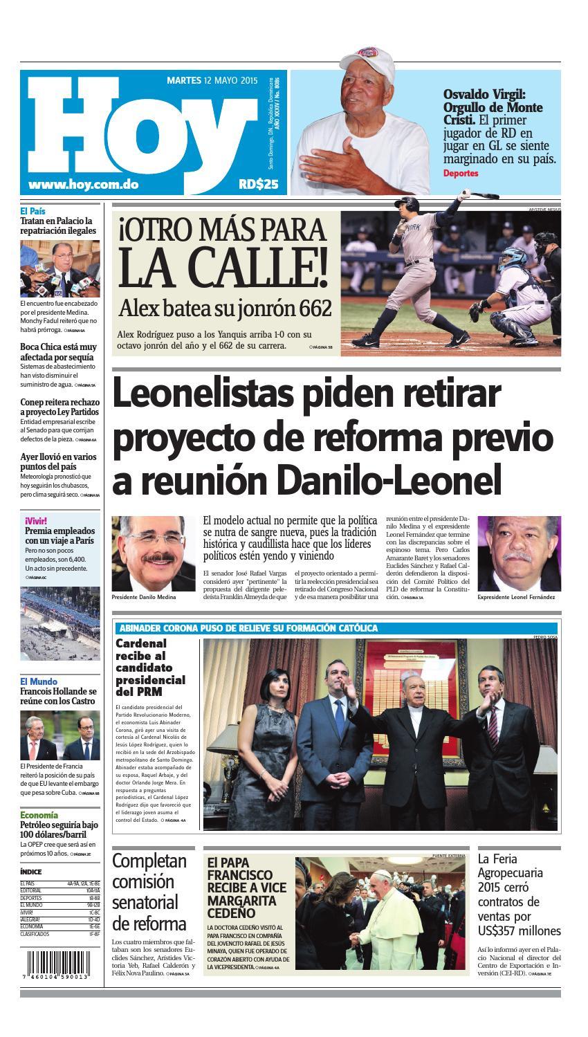 hot sale online f2dea 7aa92 Periódico martes 12 de mayo, 2015 by Periodico Hoy - issuu