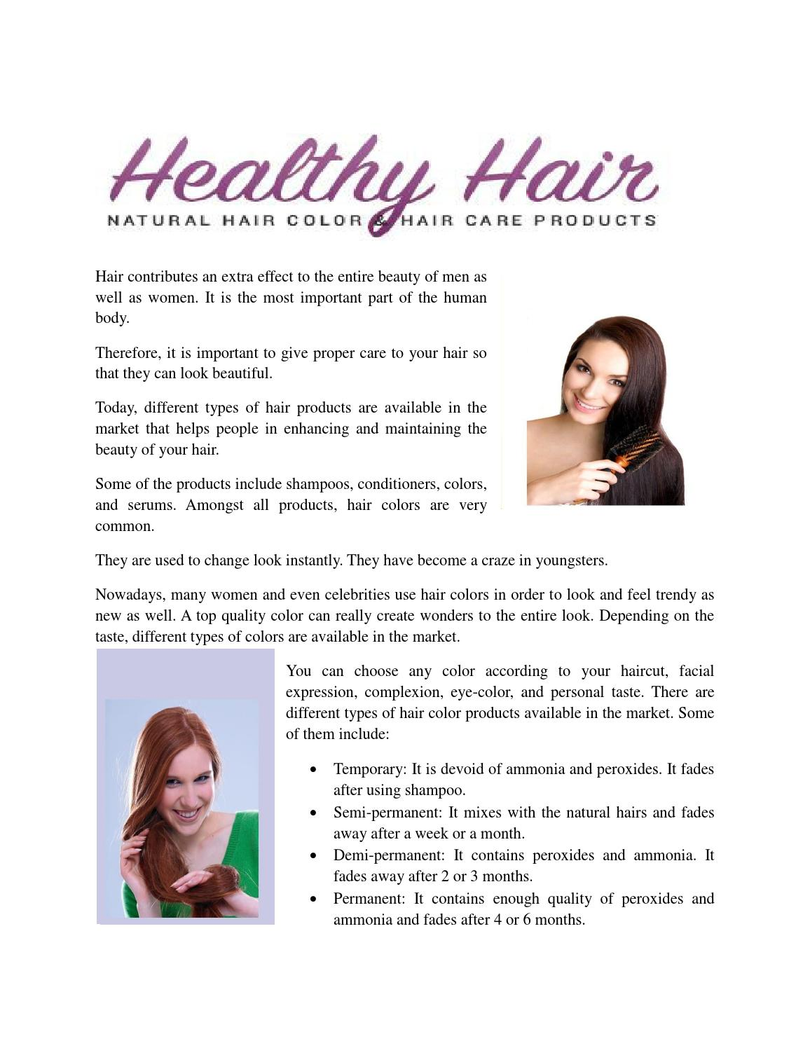 Use Natural Hair Colour To Get The Best Results By