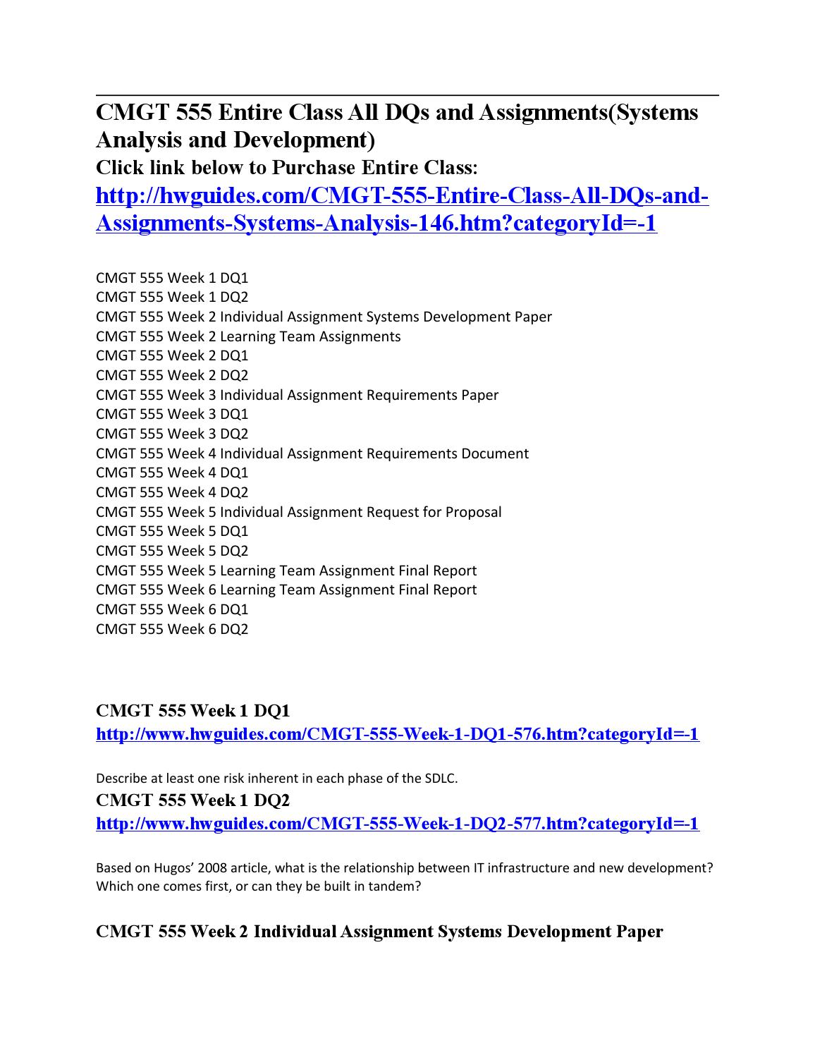 cmgt 555 week 5 individual paper Cmgt 555 uop courses write a 1,400- to 1750-word paper describing how to formulate and present the cmgt 445 week 5 individual assignmentprofessional.