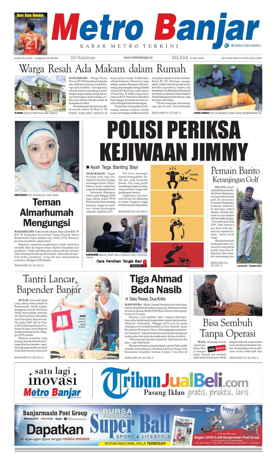 Metro Banjar Selasa 12 Mei 2015 By Harian Issuu Gendongan Bayi Depan Mbg 6201 Free Ongkir Jabodetabek