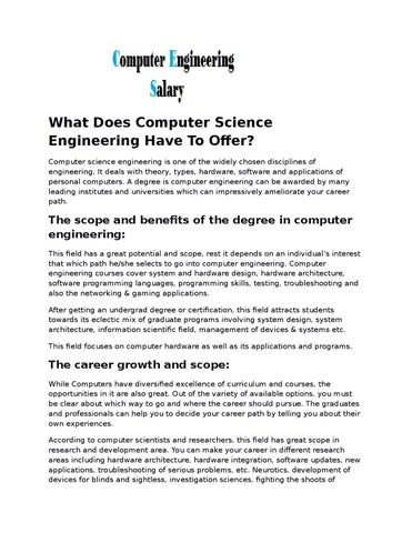 What does computer science engineering has to offer by what does computer science engineering have to offer computer science engineering is one of the widely chosen disciplines of engineering solutioingenieria Choice Image
