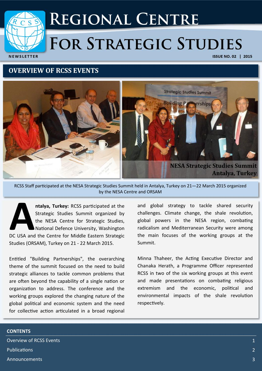 RCSS Newsletter March 2015 by RCSS - issuu