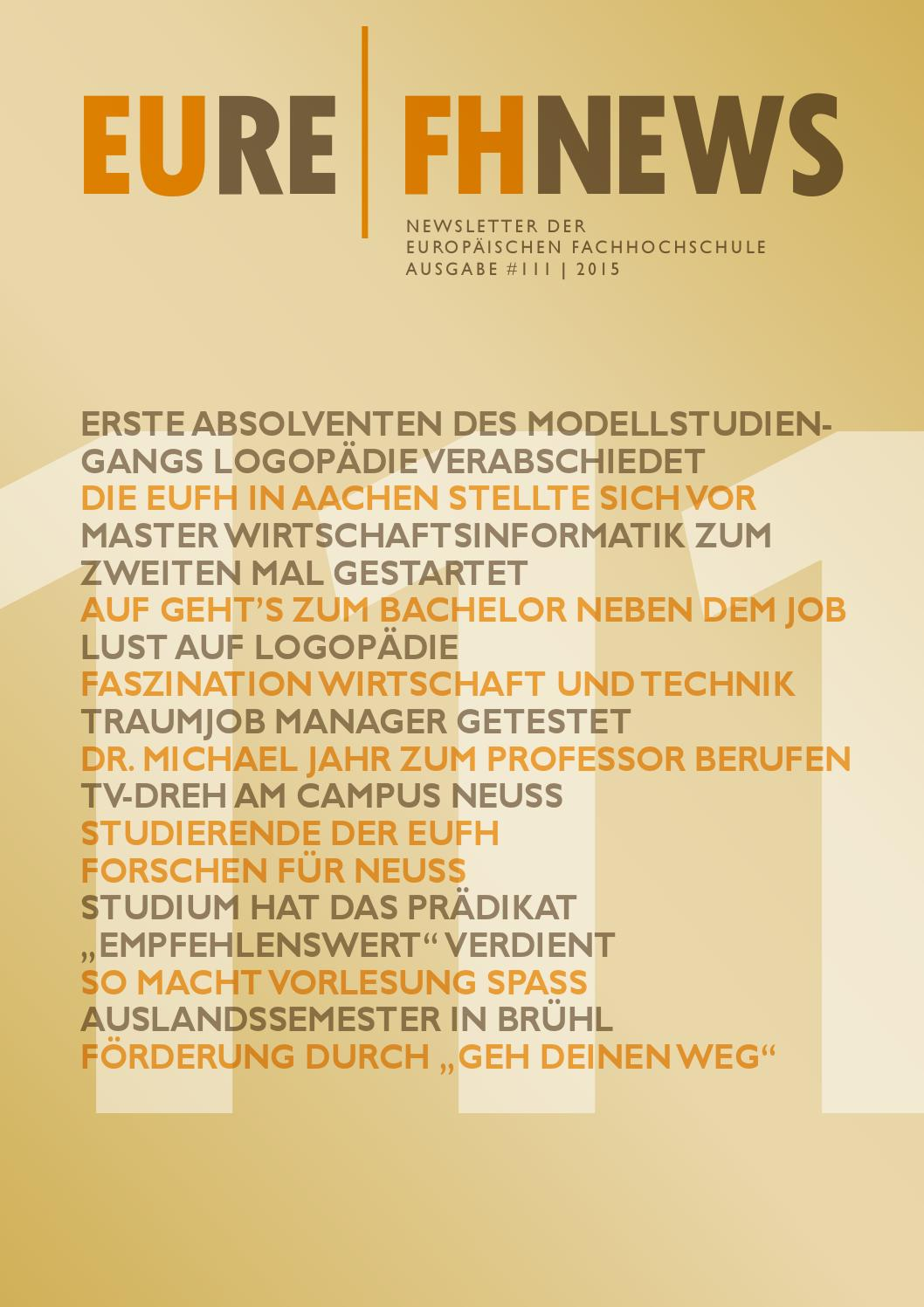 EUFH News Ausgabe 111 by EUFH - issuu