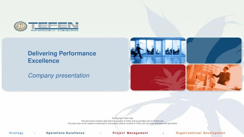 Tefen management consulting- Company presentation-ENG by