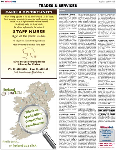 12 May 2015 Kildare Post By River Media Newspapers