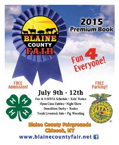 595753fe97c 2015 Blaine County Fair Premium Book by Montana Grafix