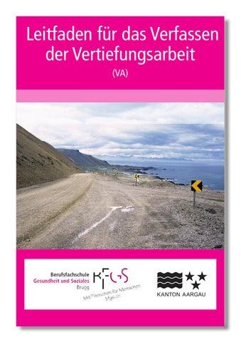 Leitfaden Vertiefungsarbeit Bfgs By Berufsfachschule Gesundheit Und