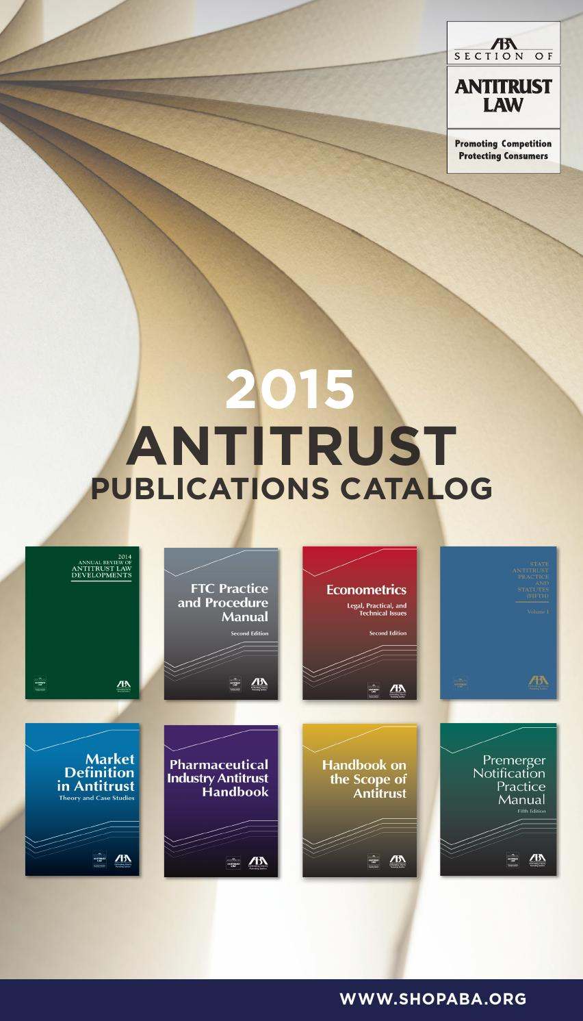 Antitrust publications by american bar association issuu fandeluxe Images