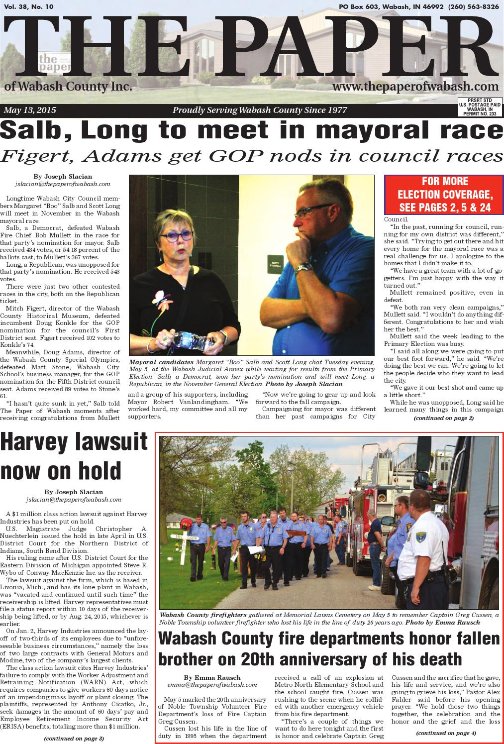 Indiana wabash county lagro - The Paper Of Wabash County May 13 2015 Issue By The Paper Of Wabash County Issuu