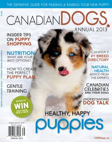 Canadian Dogs Annual 2013 by Kathleen Atkinson - issuu
