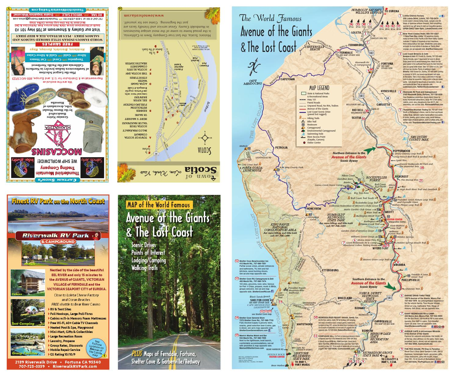 Avenue of the Giants/Lost Coast Visitor-Maps by 101 Things ... on