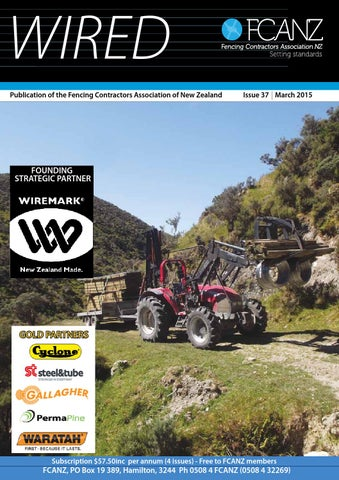 Wired March 2015 by Fencing Contractors Association New Zealand - issuu