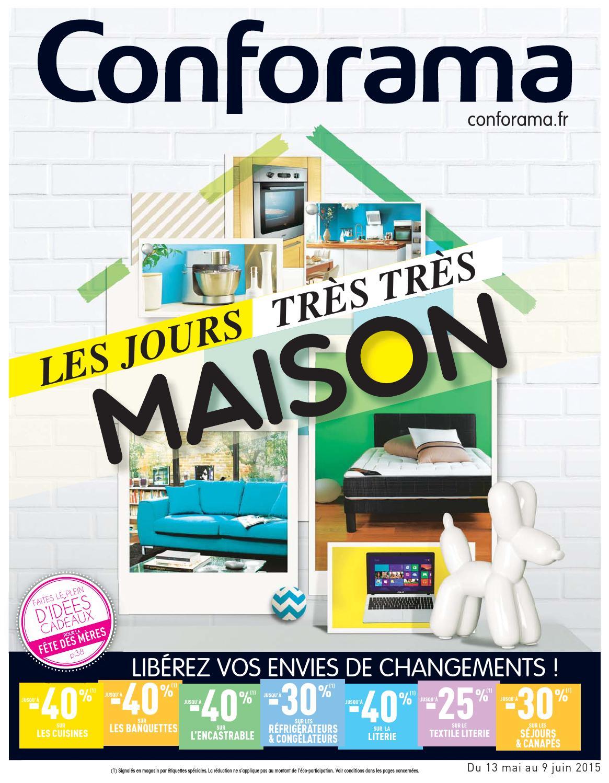 Conforama catalogue 13mai 9juin2015 by for Cadorama catalogue