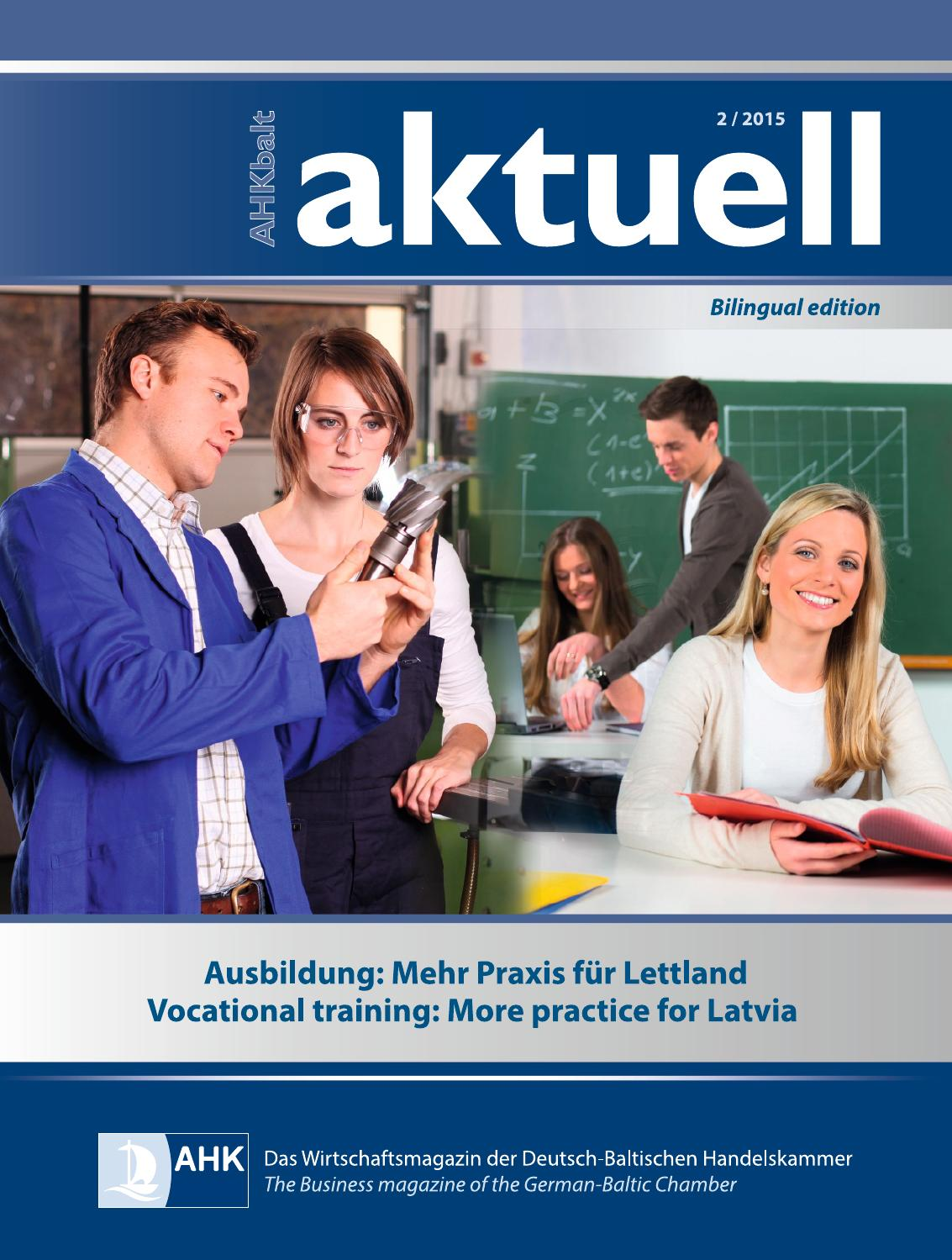 Aktuell 2015 Q2 by German-Baltic Chamber of Commerce in Estonia, Latvia,  Lithuania - issuu