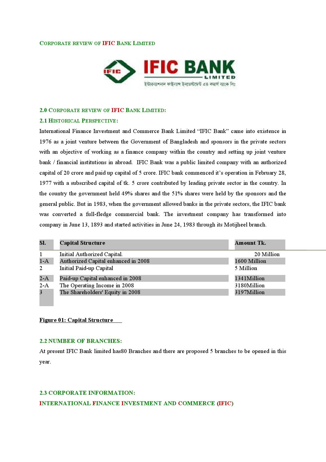 performance evaluation of ific bank Degree, i have completed the internship from ific bank limited, konapara  branch, demra,  chapter 5: performance and ratio analysis.
