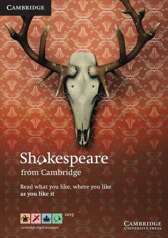 Shakespeare Catalogue 2015 By Cambridge University Press Issuu