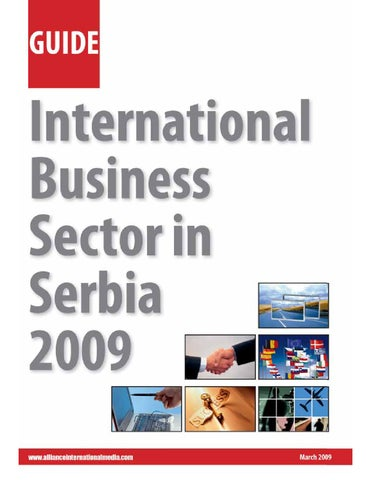 International Business Sector In Serbia 2009 By CorD Magazine   Issuu