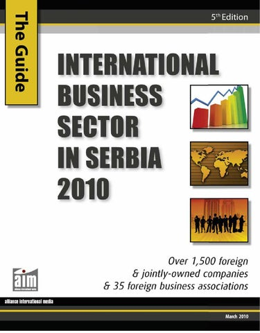 International Business Sector In Serbia 2010 By CorD Magazine   Issuu