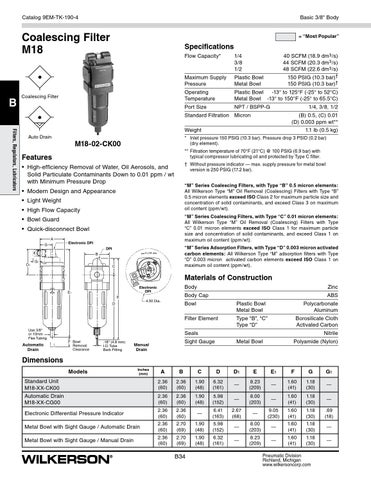 Filter Element Coalescing 530 SCFM