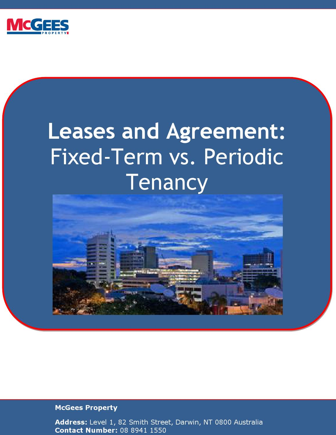 Leases And Agreement Fixed Term Vs Periodic Tenancy By