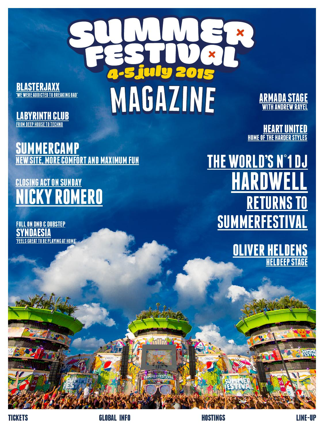 Summer Festival Antwerp 2015 Magazine by Kevin Budts - issuu
