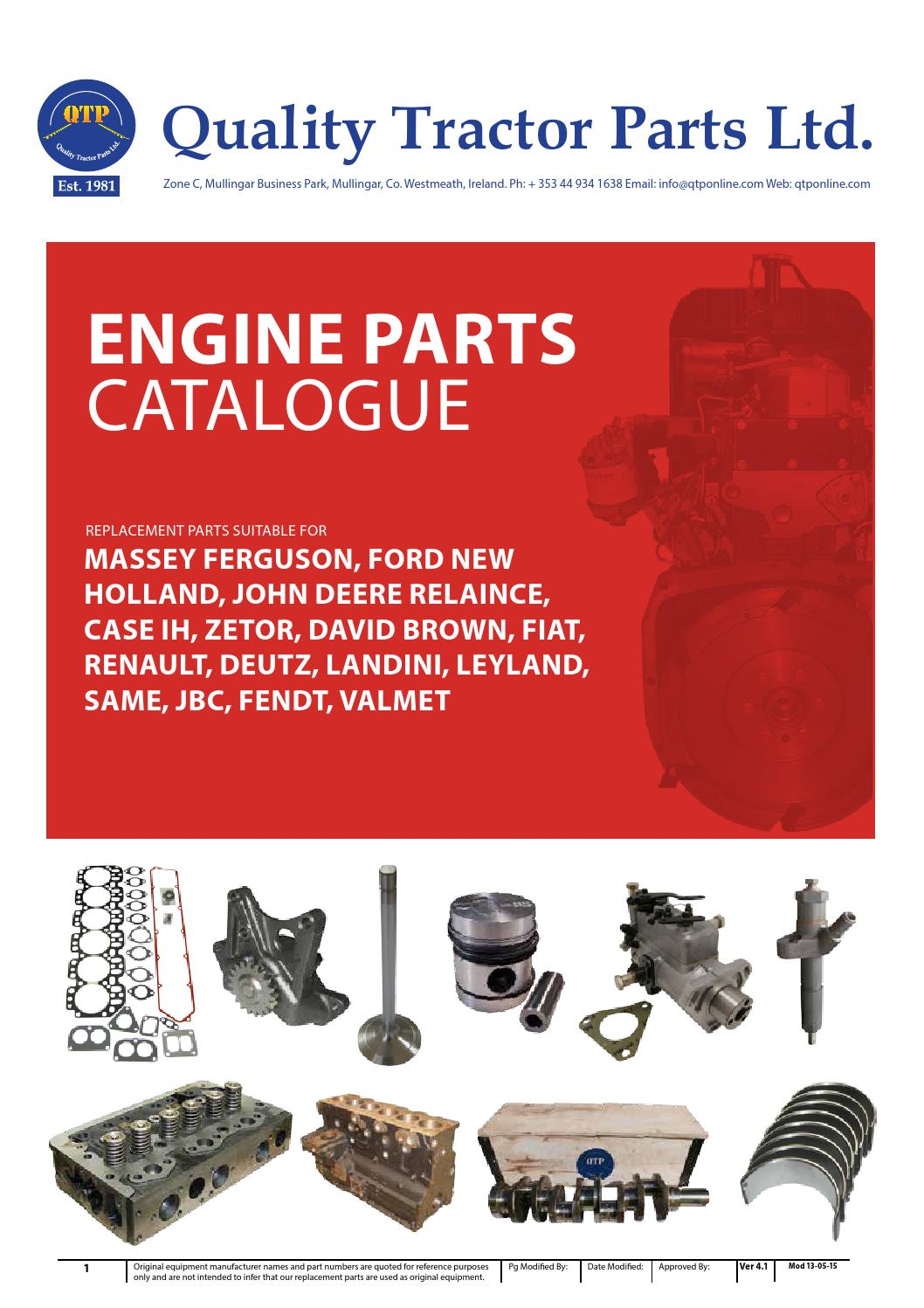 Engine Parts Catalogue By Quality Tractor Issuu John Deere 4040 Ignition Wiring Diagram
