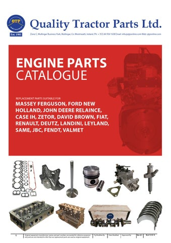 Engine parts catalogue by Quality Tractor Parts - issuu