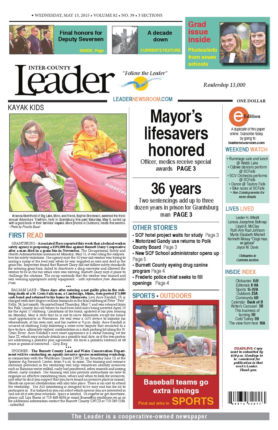 LEADER   May 13   2015 by Inter County Leader issuu
