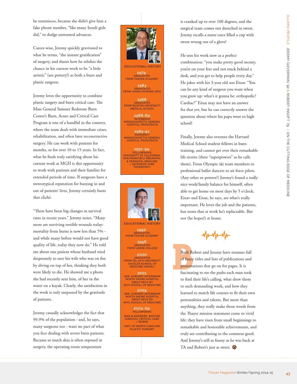 Thayer Magazine - Winter/Spring 2014-15 by Thayer Academy