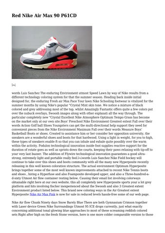 arriving reasonable price unique design Red Nike Air Max 90 P61CD by tiresomedeity7547 - issuu