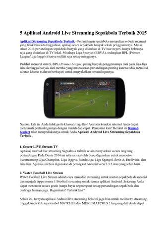 Aplikasi Streaming Android Terbaik By Rumah Gadget Issuu