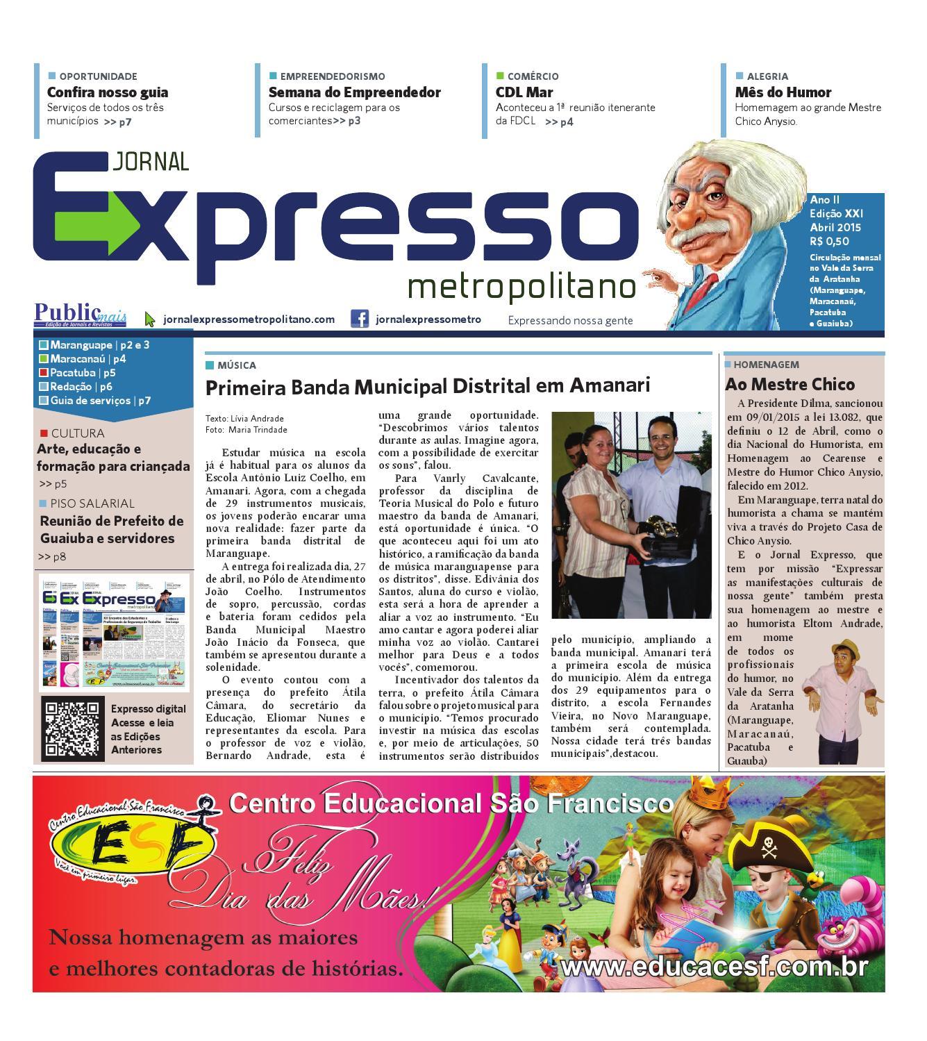 a5e362e269 Jornal Expresso Metropolitano abril 2015 by 07351 Jornal Expresso CE - issuu