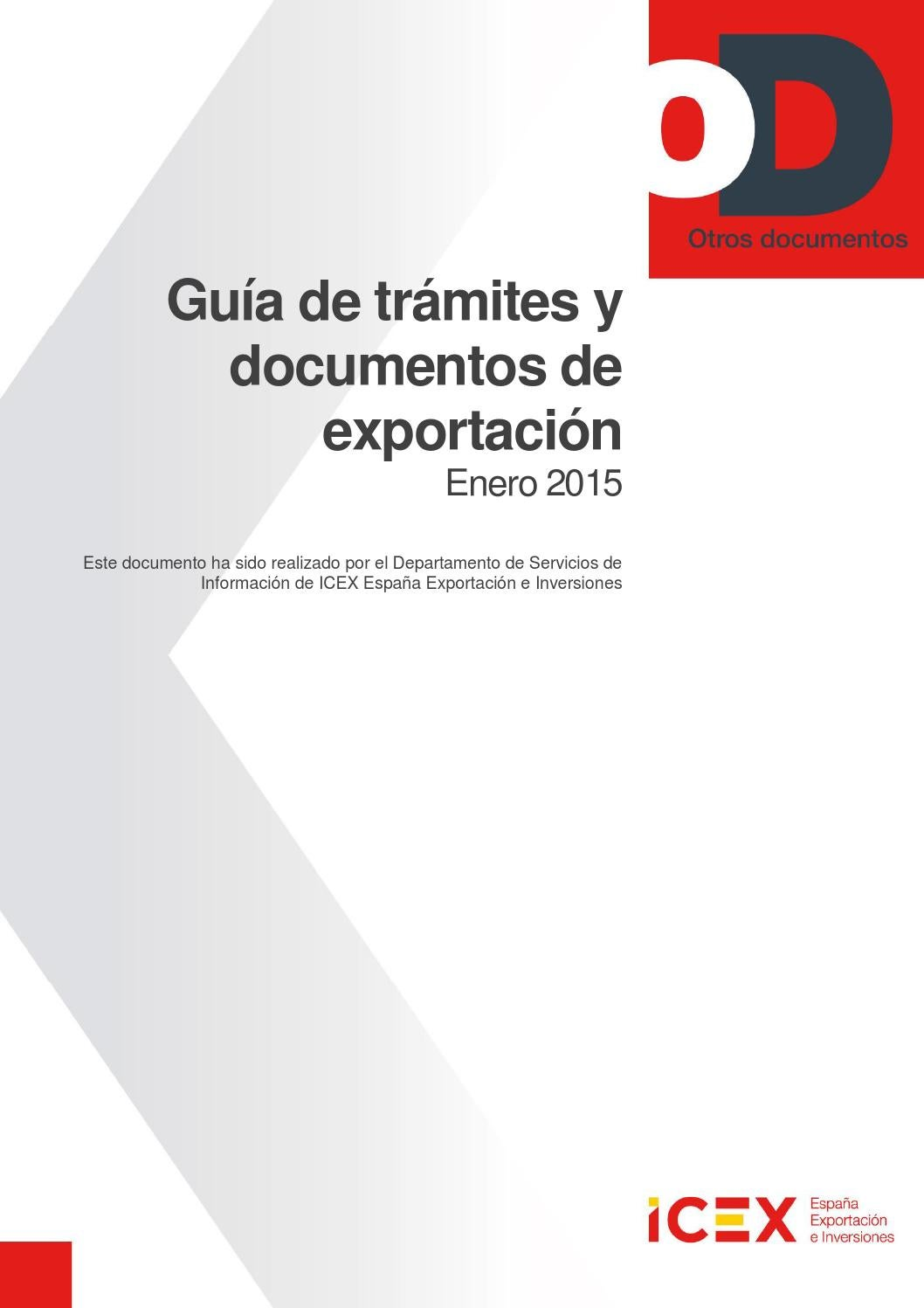 Guia tramites documentos export 2015 by Pedro Rodríguez Sánchez - issuu