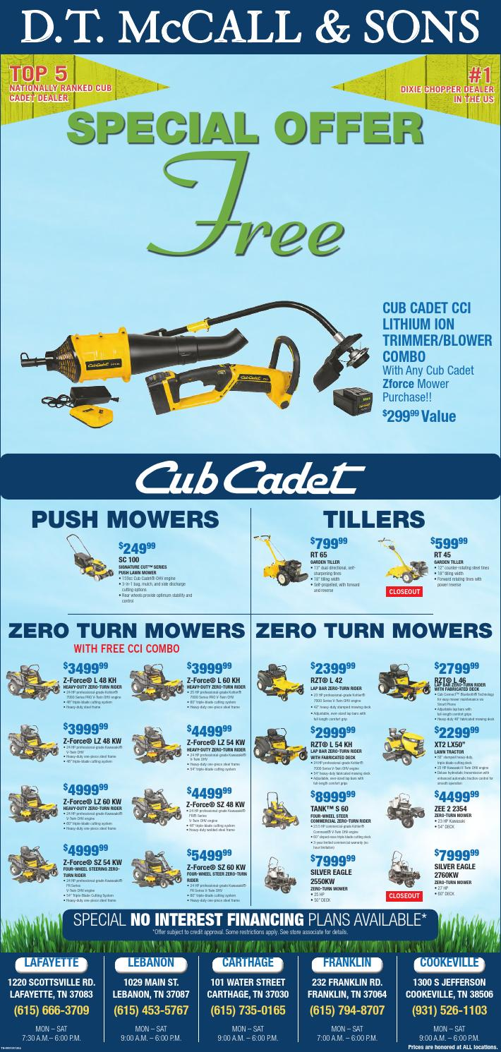Dt Mccall S Weekly Ad By Dt Mccall And Sons Issuu