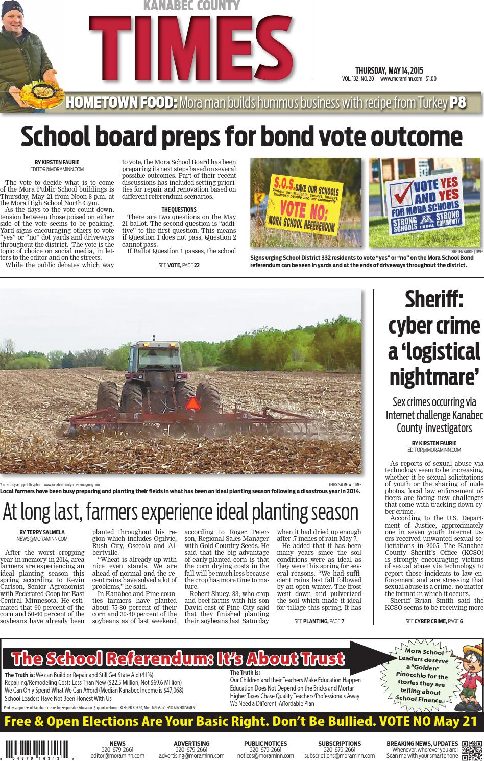 June 4, 2015 e-edition by Kanabec County Times - issuu
