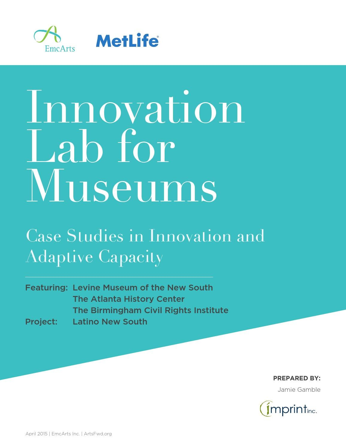 Case studies in innovation and adaptive capacity latino for Innovation consulting atlanta