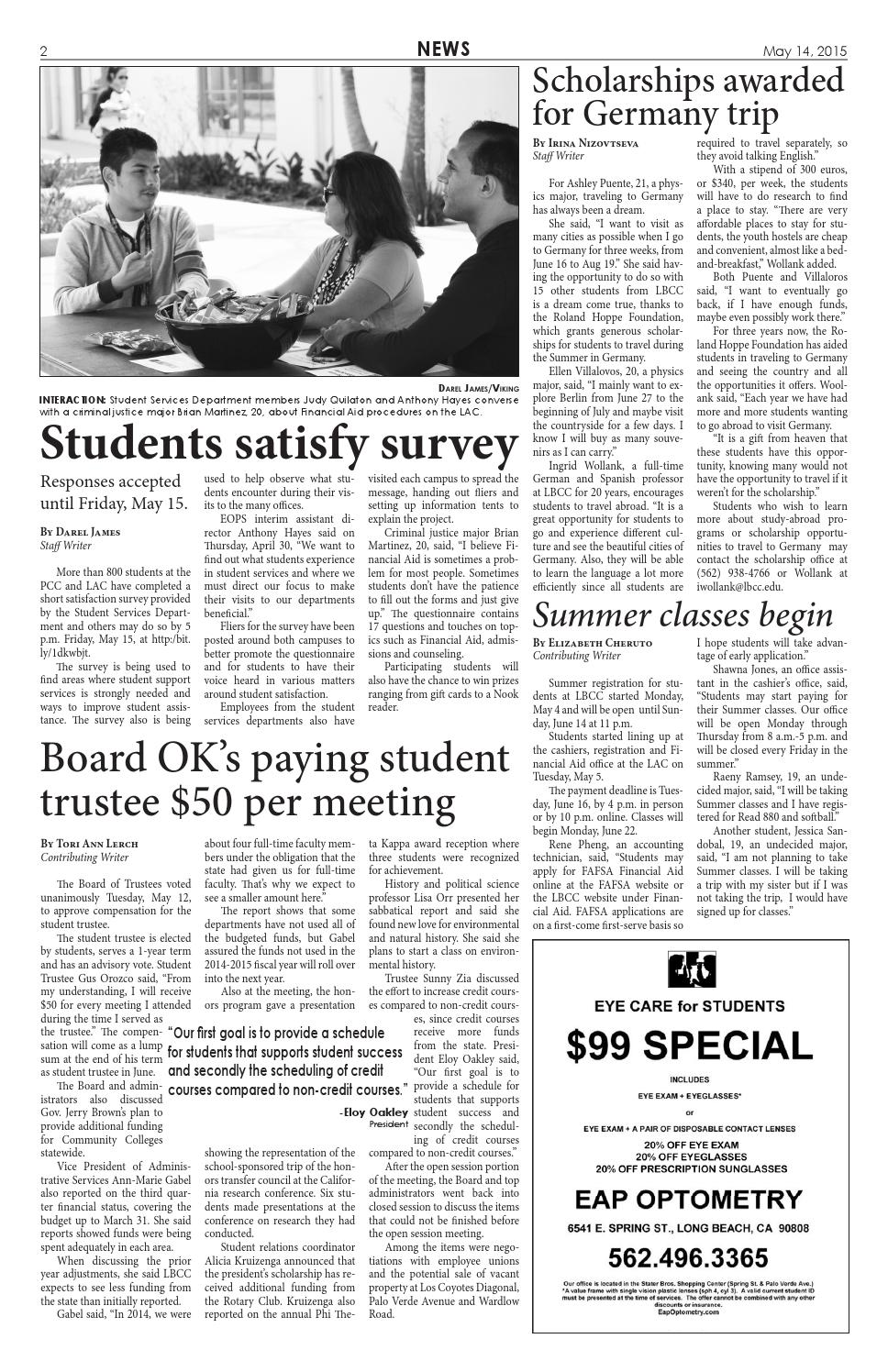 Viking 051415 issue by LBCC Viking News - issuu