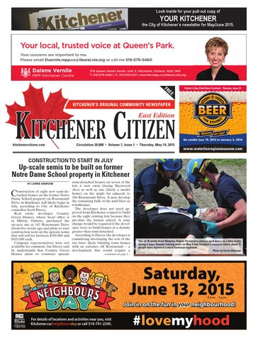 Kitchener Citizen East Edition May 2015 By Kitchener Citizen Issuu