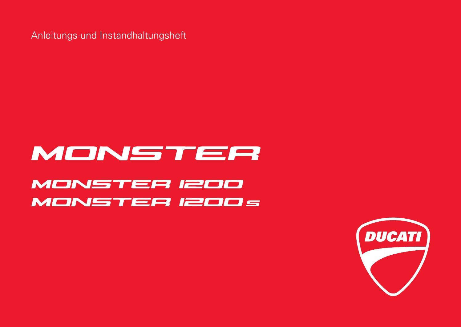 Anleitung MONSTER 1200s by DUCATI AUSTRIA - issuu