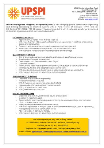 Job Vacancies Upspi By Institute Of Integrated Electrical