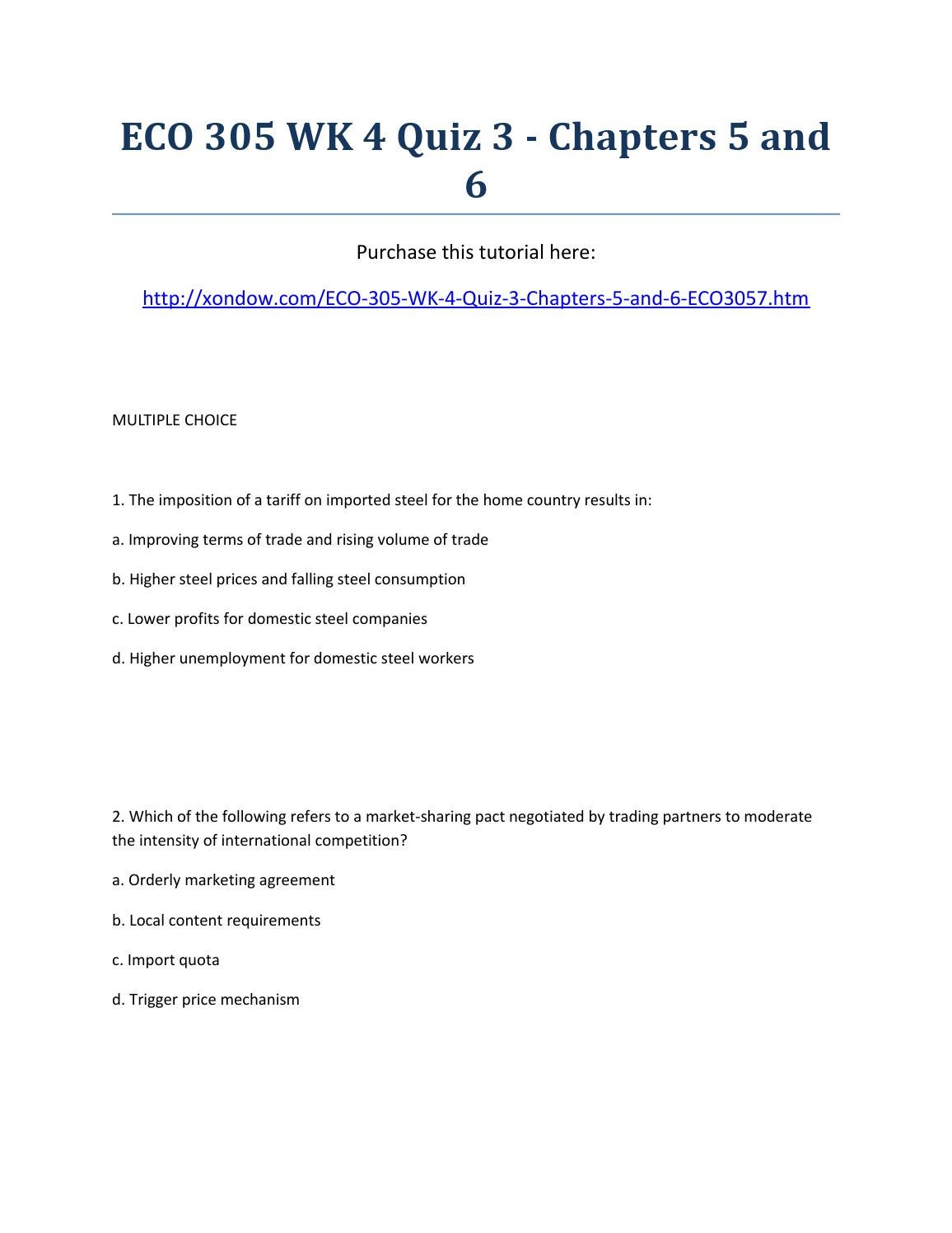 Eco 305 week 4 quiz 3 chapters 5 and 6 strayer university new by eco 305 week 4 quiz 3 chapters 5 and 6 strayer university new by dorothyyoung issuu platinumwayz
