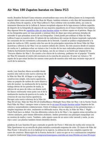 Air Max 180 Zapatos baratas en linea FG5 by