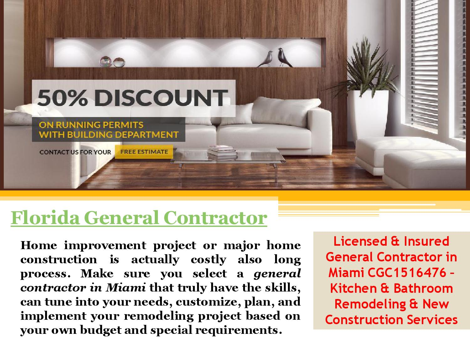 Florida general contractor by general contractor miami issuu for Being your own general contractor